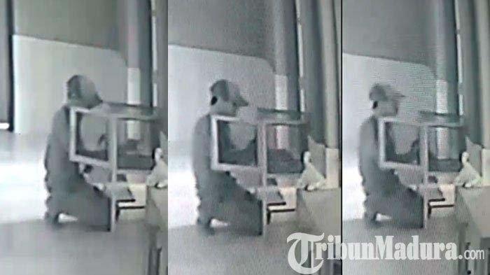 Pura-pura akan Sholat, Pria di Perawang Ini Bongkar Kotak Infak Masjid, Aksinya Terekam CCTV
