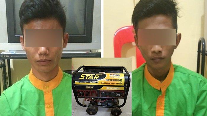 Aksi Pencurian Genset di Rumah Lurah Terekam CCTV, Dua Pria di Selatpanjang Diciduk Polisi