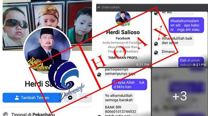AWAS TERTIPU, Facebook Plh Walikota Dumai Dicloning, Minta Penggalangan Dana