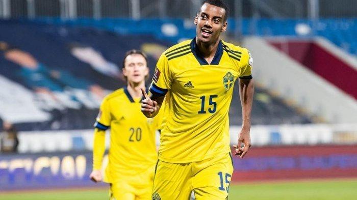 Alexander Isak, striker Swedia di Euro 2020