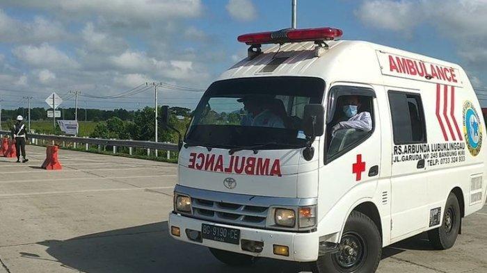 Mobil Ambulans Pembawa Pasien Covid-19 Terjaring Pos Penyekatan Mudik, Dipaksa Putar Balik