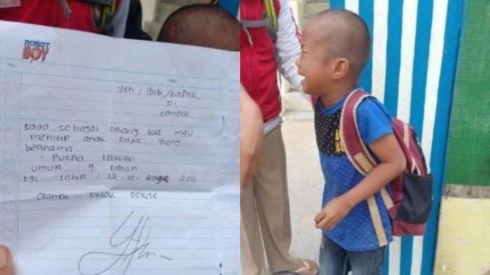 Viral Bocah Laki 9 Tahun Menangis Ditinggalkan Orangtua di Depan RS, Ada Surat: Mau Nitip Anak Saya