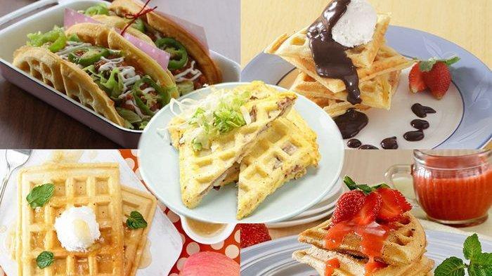 Aneka Resep Waffle, Cara Membuat Waffle Mudah, Ada Waffle Saus Cokelat hingga Waffle Saus Stroberi