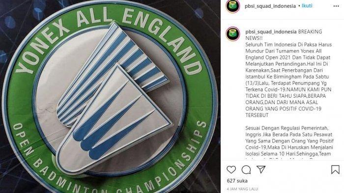 Kronologi Lengkap Squad Indonesia Dipaksa Mundur dari Eurnamen All England Open 2021