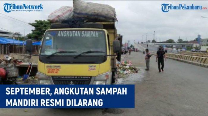 Operator Angkutan Sampah Mitra Pemko Pekanbaru Sempat Diancam Oknum Angkutan Sampah Ilegal