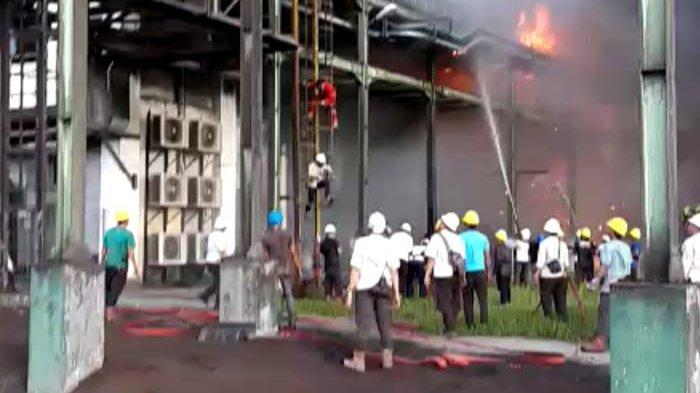 Api Masih Berkobar, Gudang Ampas Sawit PT SDS di Dumai Terbakar-Berita Riau Hari Ini
