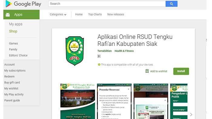 Berobat di RSUD Tengku Rafian Siak Bisa Mendaftar Lewat Aplikasi Android, Begini Caranya