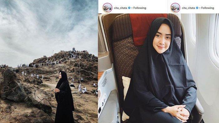 ARTIS Cantik Indonesia Cita Citata Berdoa Minta Jodoh di Jabal Rahmah, Siapa Mau Jadi Jodohnya?
