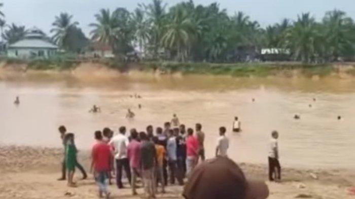 Anak Tenggelam Belum Ditemukan, Pencarian Besar-besaran Dilakukan di Pantai Jai-jai Raok Kuansing