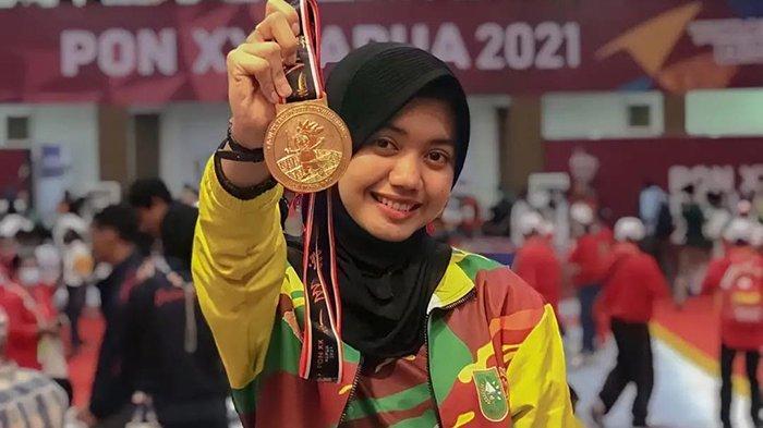 Atlet Cantik Asal Siak Ini Bersama 3 Atlet Lain Sumbang Medali untuk Riau di PON 2021, Bikin Bangga