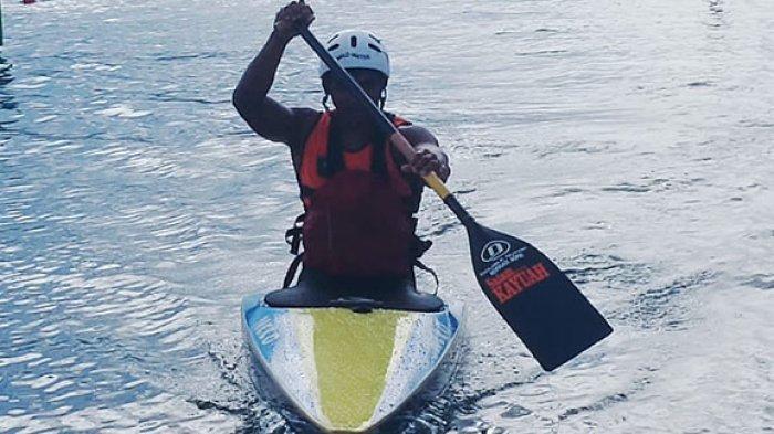 Atlet Nopriadi raih medali emas di nomor Canoe Slalomdan menambah pundi-pundi medali bagi Riau di PON 2021 Papua.