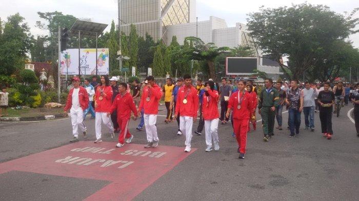 Atlet Riau yang Bertanding di Asian Games 2018 Diarak di CFD, Masyarakat Senang Bisa Lihat Langsung
