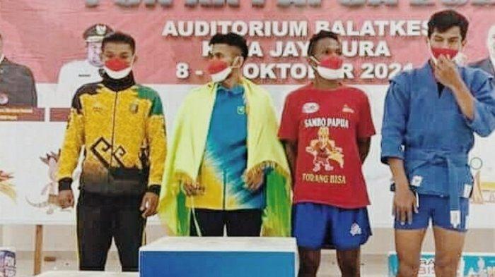 Atlet Sambo Riau Asal Inhil Berhasil Sabet Medali Emas di PON Papua