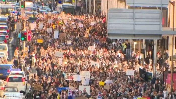 Massa Anti-lockdown Kepung Sejumlah Kota di Australia Saat Kasus Covid-19 Melonjak Lagi