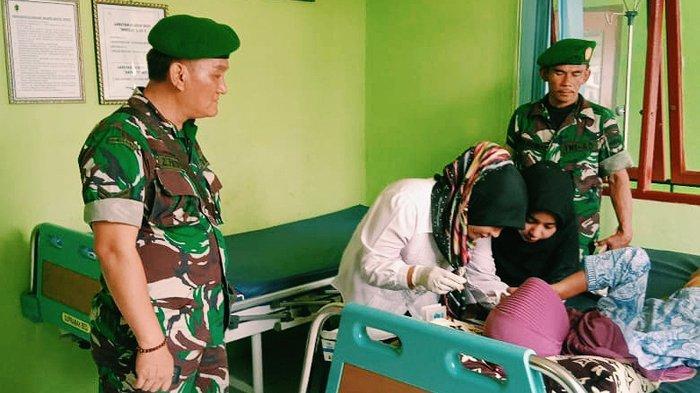 Laksanakan Program KB Kesehatan, Babinsa Dampingi UPT Puskesmas Pulau Burung