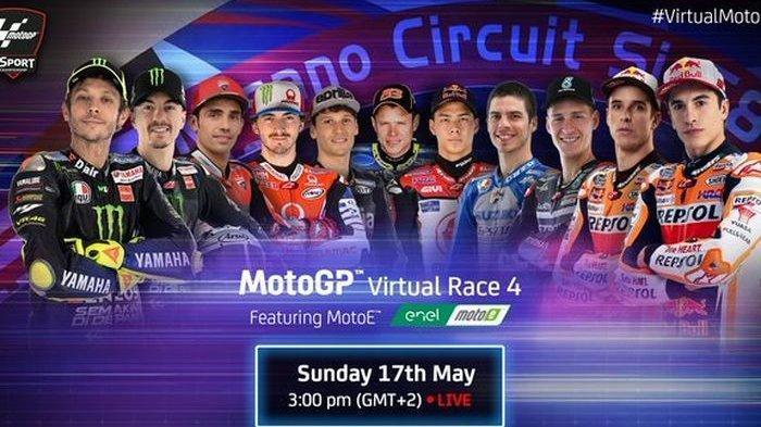 Link Nonton Live Streaming MotoGP Virtual 2020 Minggu 17 Mei Pukul 20.00 WIB, Ada Valentino Rossi