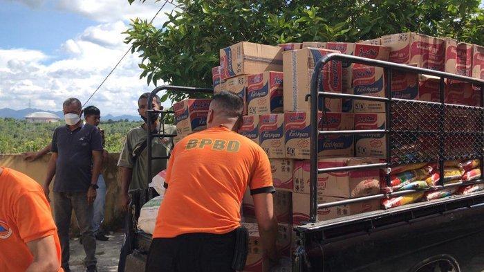 Banjir Bandang Luluhlantakkan Desa Ludai Kampar, PTPN V Salurkan Bantuan Sembako kepada Korban