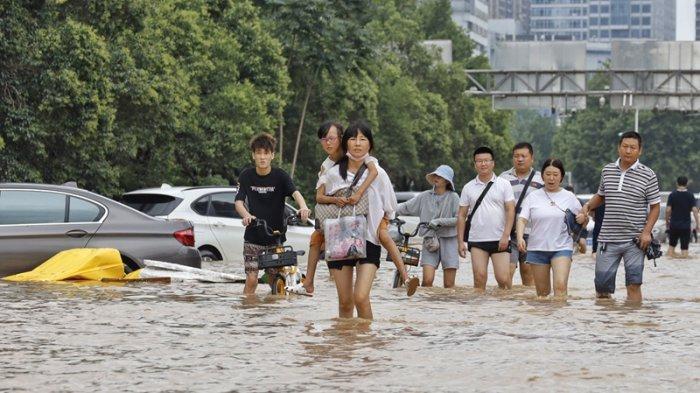 Kota Dengan Sistem Transportasi Canggih Di China Lumpuh Seketika Hanya Karena Air