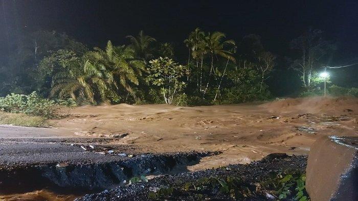 Banjir di Kabupaten 50 Kota, Sumbar, Kamis (29/4/2021)