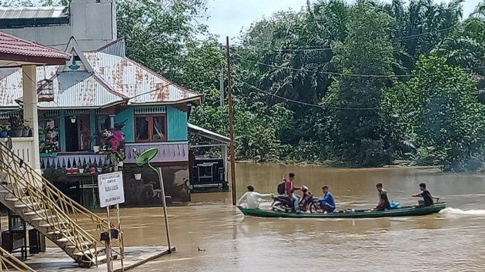 Capeknya Jadi Korban Banjir,Air Naik Ngungsi,Surut Pulang Bersih-bersih,Ini Dialami Warga Pelalawan