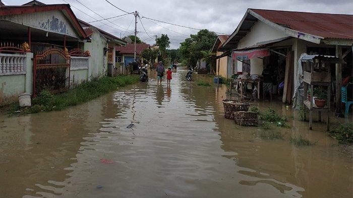 Sungai Kerinci Riau Meluap, Perumahan Graha Pelalawan Riau Kembali Terendam