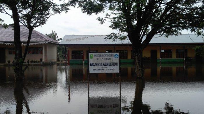Waspada Banjir,Inhu Berpotensi Dilanda Banjir Skala Menengah,Ini Langkah KPBD  dan Polres
