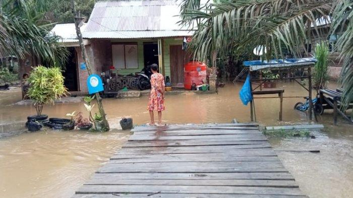 Langganan Banjir, Rumah Warga Kerap Terendam Saat Hujan, Kades di Pelalawan Minta Pemda Lakukan Ini