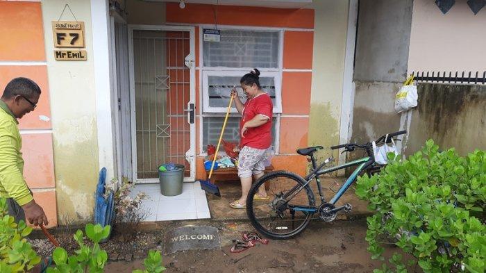 Banjir di Pekanbaru, Penghuni Perumahan Pesona Harapan Indah Mulai Berbenah Saat Air Surut