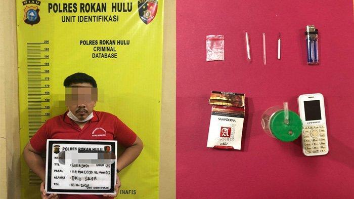 Bawa Sabu 0,55 Gram, Pria di Rohul Diciduk Polisi dalam Kandang Ayam