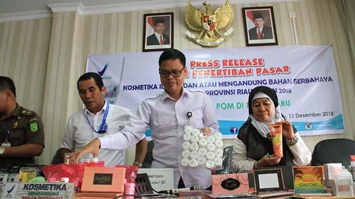 BBPOM Pekanbaru Amankan 21.218 Kemasan Produk Kosmetik Ilegal dan Berbahaya Senilai Rp 1 M Lebih