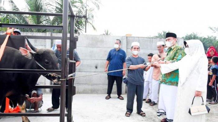 Berpisah Tempat, Bupati Kampar Salat Idul Adha di Tapung, Sekda di Bangkinang Kota