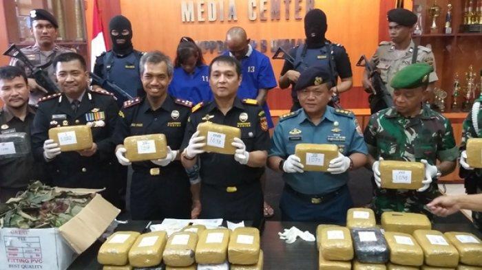 Coba Ditutupi Buah Rambutan, Bea Cukai Dumai Gagalkan Penyelundupan 39 Kg Ganja