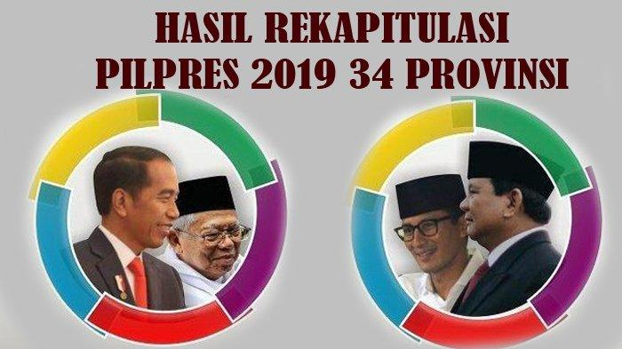 RESMI! Hasil & Pemenang Pilpres 2019: KPU Umumkan Jokowi 85.607.362 Suara, Prabowo 68.650.239