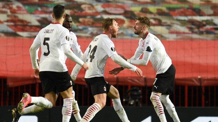 Hasil Akhir Manchester United vs AC Milan, Pasukan Stefano Pioli Sukses Curi Gol Tandang Liga Eropa
