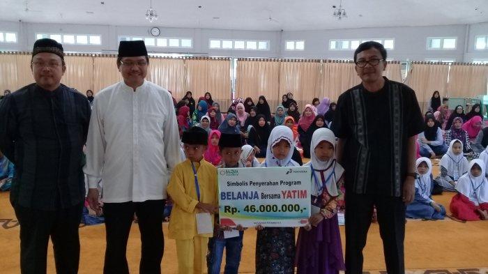 Bazma RU II Salurkan Bantuan untuk Belanja Lebaran Bagi 115 Anak Yatim di Dumai