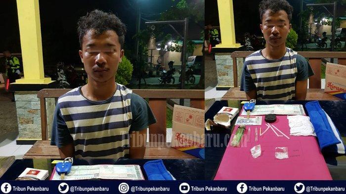 Beli Sabu-sabu di Pekanbaru Krisman Ditangkap di Jalan Lintas Timur, Pemkab Siak Sosialisasi Narkoba