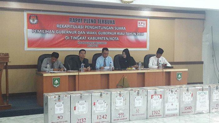 Hasil Pleno Rekapitulasi KPUD Bengkalis, Pasang Syamsuar-Edy Peroleh Suara Tertinggi
