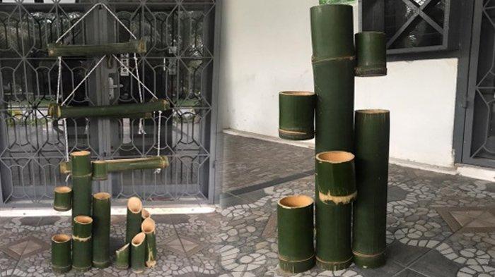Berkarya Lewat Bambu, Mahasiswa Kukerta UNRI Siap Kembangkan Potensi Desa Ranah Singkuang