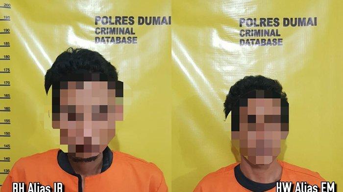 DUH Bakal Jamuran di Penjara Deh,Dua Pengedar Narkoba yang Diringkus di Dumai Terancam 12 Tahun Bui