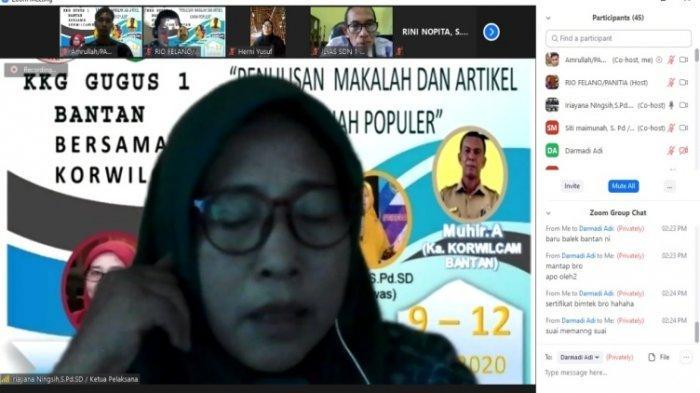 Forum KKG Gugus 1 Bantan, Bengkalis Sukses Gelar Bimtek Online: Menulis Makalah & Artikel Ilmiah