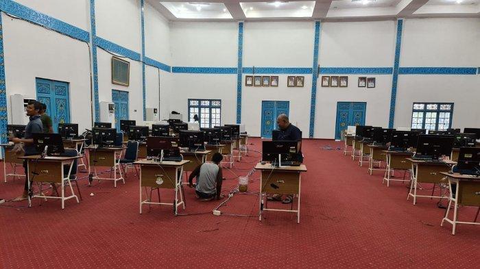 BKPSDM Pasang Jaringan dan PC di Gedung Daerah, SKD CPNS Pelalawan Digelar 12 Oktober
