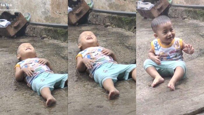 VIRAL Tiktok Bocah Mandi Hujan & Asik Tidura: Sang Orangtua Ungkap Hal Ini