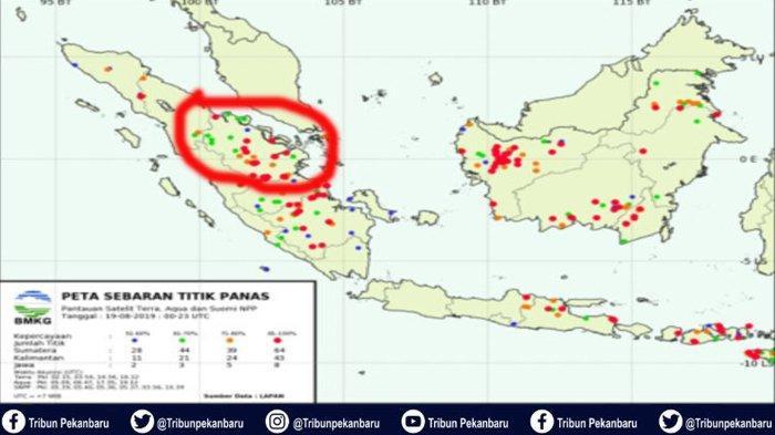 BREAKING NEWS : Hotspot Kembali Terpantau di TNTN Riau dan Terdapat 23 Titik di Pelalawan
