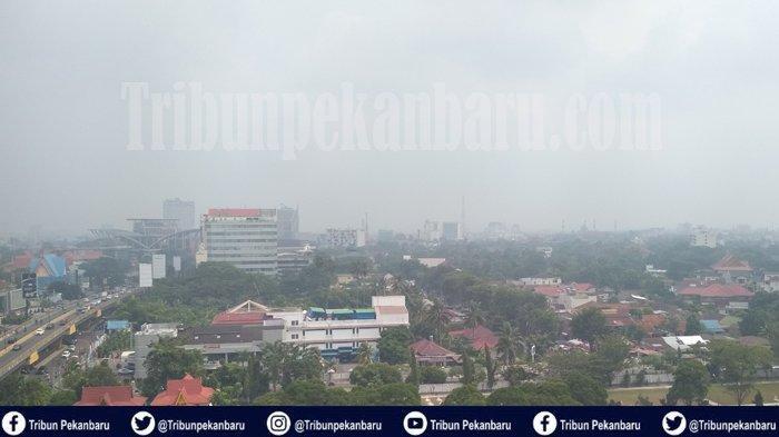 BREAKING NEWS : KABUT Asap di Riau Pagi Ini Tebal, Jarak Pandang Hanya 1500 Meter, Hotspot Meningkat