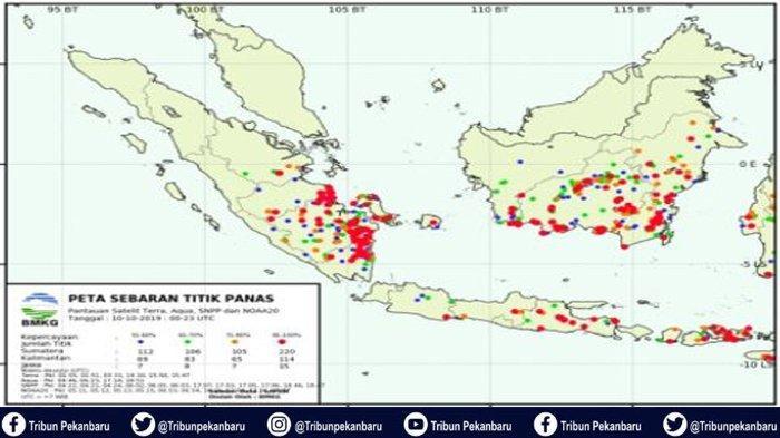 BREAKING NEWS : Karhutla Landa Sumatera, Hotspot di Sumatera 543 Titik, Hotspot di Riau 15 Titik