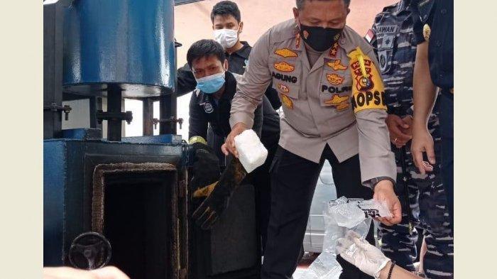 BREAKING NEWS: Pemusnahan Narkoba 80,24 Kg Sabu dan 68.636 Pil Ekstasi Hasil Tangkapan di Riau