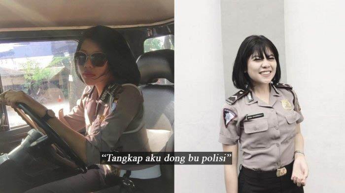 Cerita Seorang Polwan Cantik Ditabrak Angkot, Netizen Malah Beri Komentar Nakal