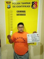 Jambret Depan RSJ Tampan Pekanbaru, Dikejar Polisi Akhirnya Tertangkap, Sudah Kali Keempat Beraksi