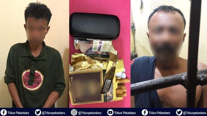 BUANG Sabu-sabu ke Lantai dan Simpan dalam Kotak Rokok, Polisi Tangkap Dua PEMUDA di Pelalawan Riau