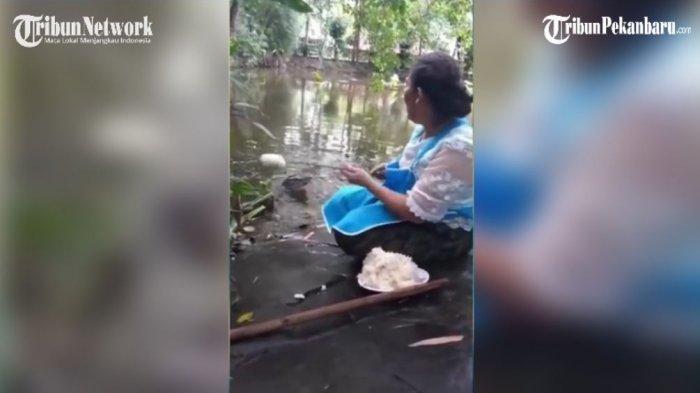 Video: Unik Kelakuan Ibu Ini, Menyuapi Nasi Pada Buaya Seperti Hewan Peliharaan
